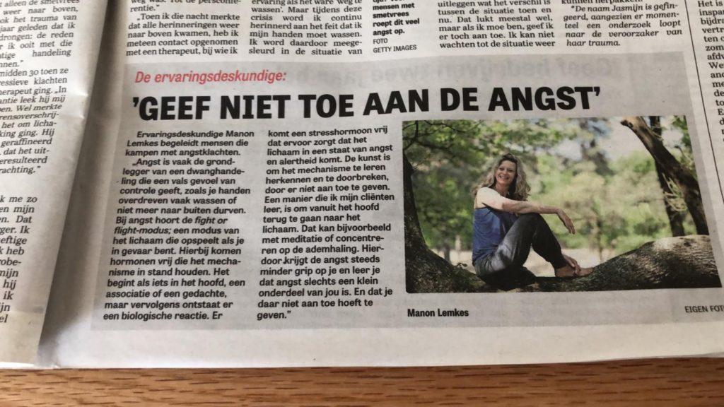 Manon als ervaringsdeskundige in de Telegraaf!